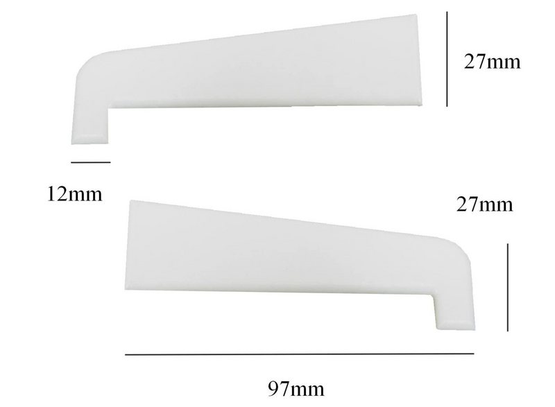 Eurocell UPVC Window and Door Cill End Caps - 1 Pair, 150mm White