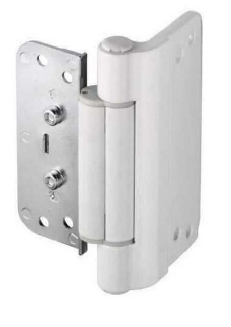 Trojan 3D Adjustable Butt Rebate Composite Door Hinge, White