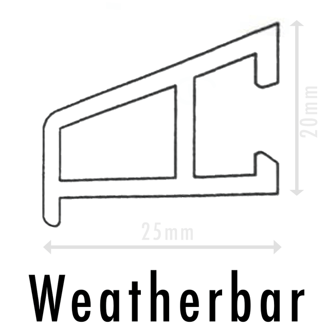 UPVC Door Drip Bar Weather Bar Rain Deflector - Anthracite Grey, 650mm