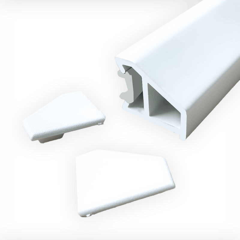 UPVC Door Drip Bar Weather Bar Rain Deflector - White, 850mm