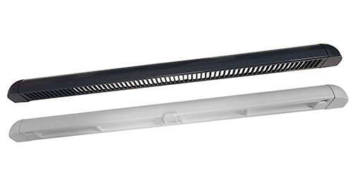 Window Frame Trickle Vent - Anthracite Grey on White, 400mm