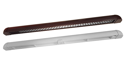 Window Frame Trickle Vent - Rosewood on White, 300mm