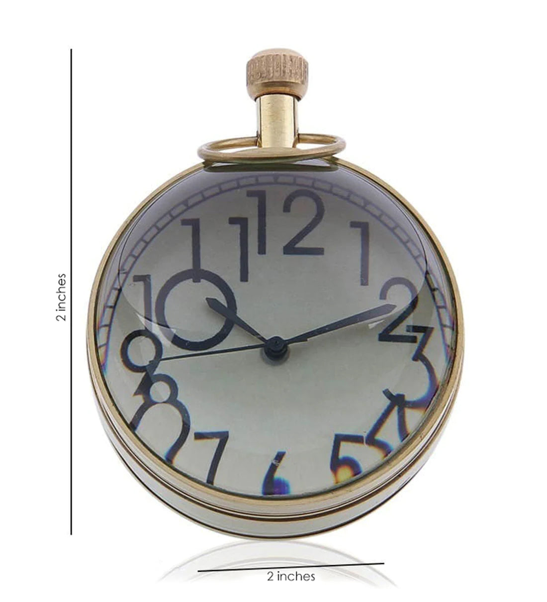 Brass Round Table Clock 2 inch