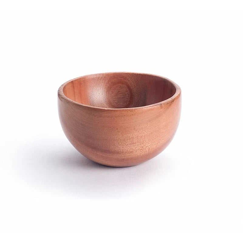 Neem Wood 4 Inch Handcrafted Bowl For Daily Use