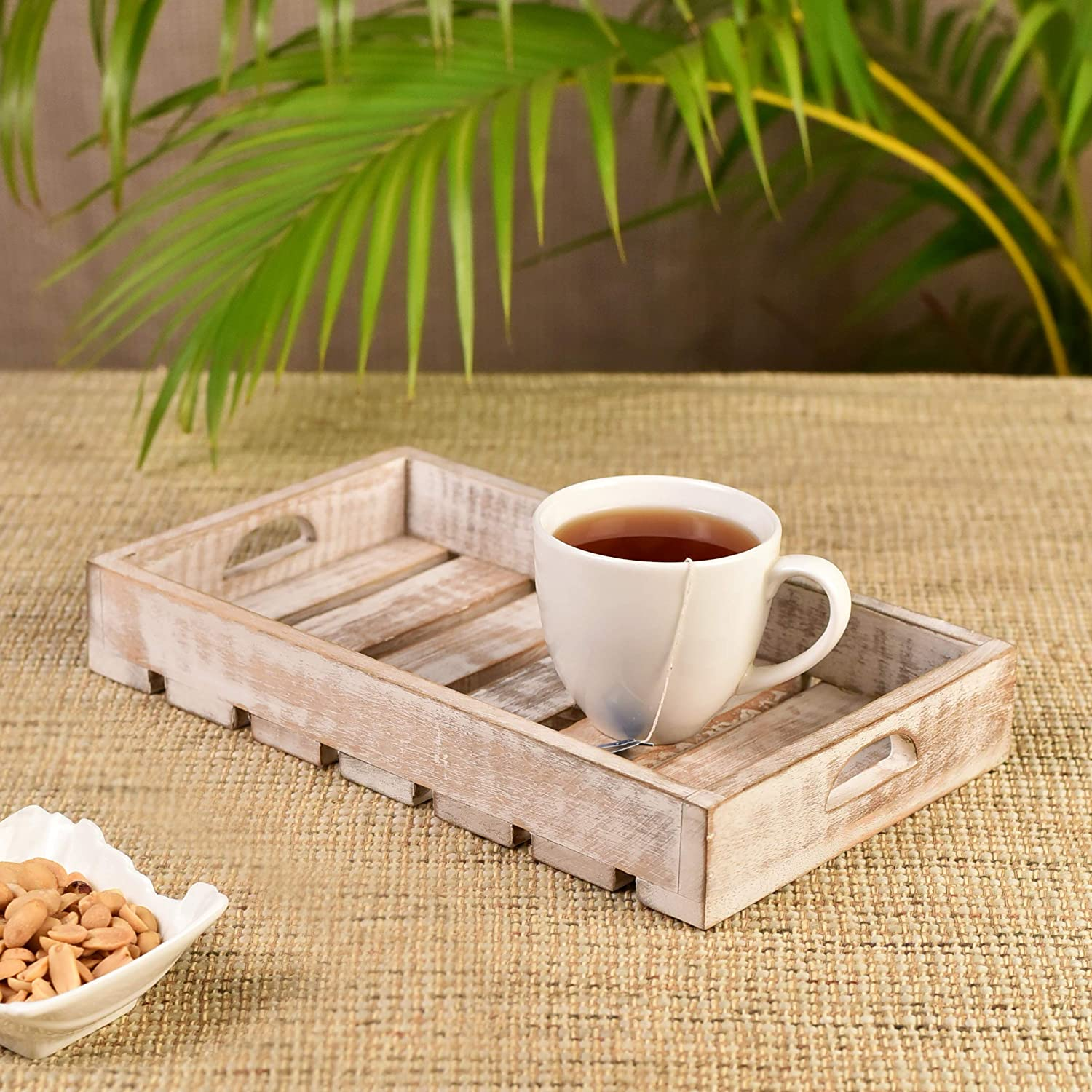 Handmade Wooden Serving Tray ( Mango Wood )