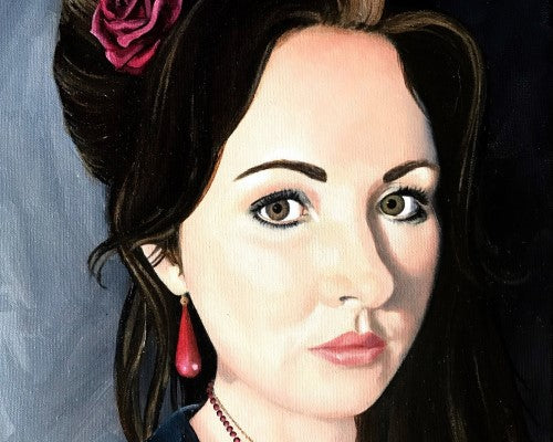Painted portrait of an artist