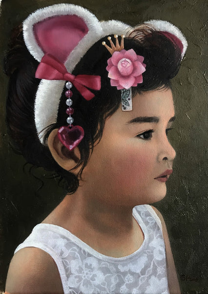 Custom portrait of a young girl