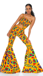 Load image into Gallery viewer, Ashtai Bell Bottoms Jumpsuit