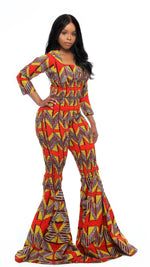 Load image into Gallery viewer, Yejide Bell Bottom Jumpsuit