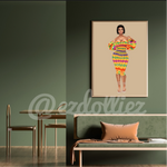 Load image into Gallery viewer, Efua Illustration