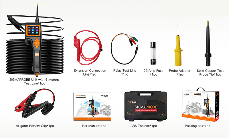Sigmaprobe diagnostic tool package list