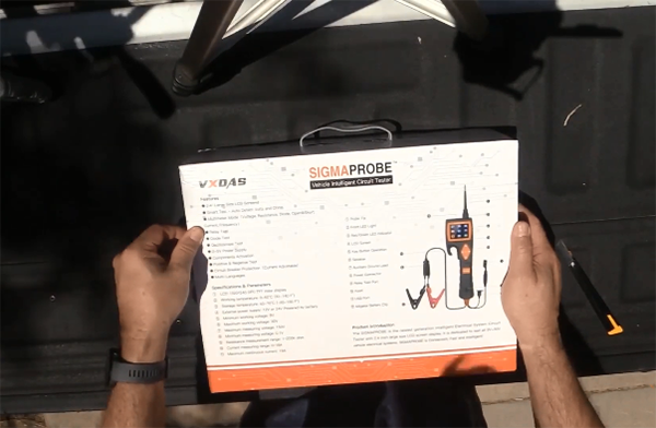 Sigmaprobe diagnostic tool outer package box