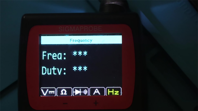 SigmaProbe automotive circuit tool Frequency