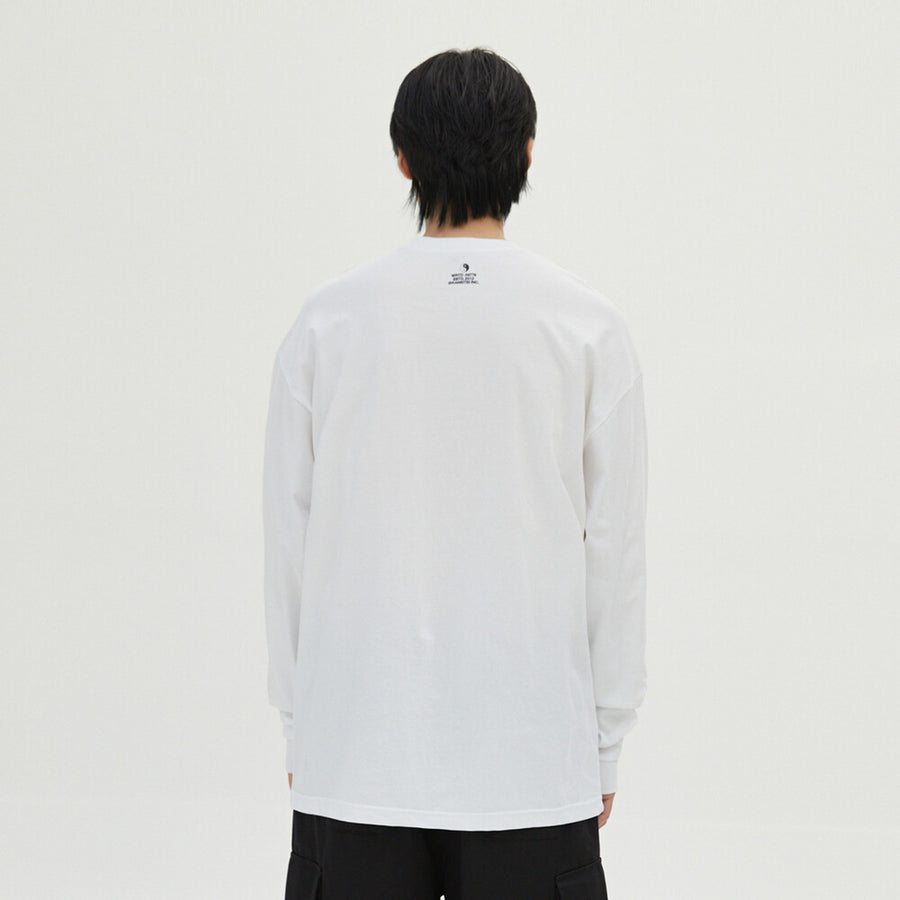 Wasted Bear Long Sleeve - White