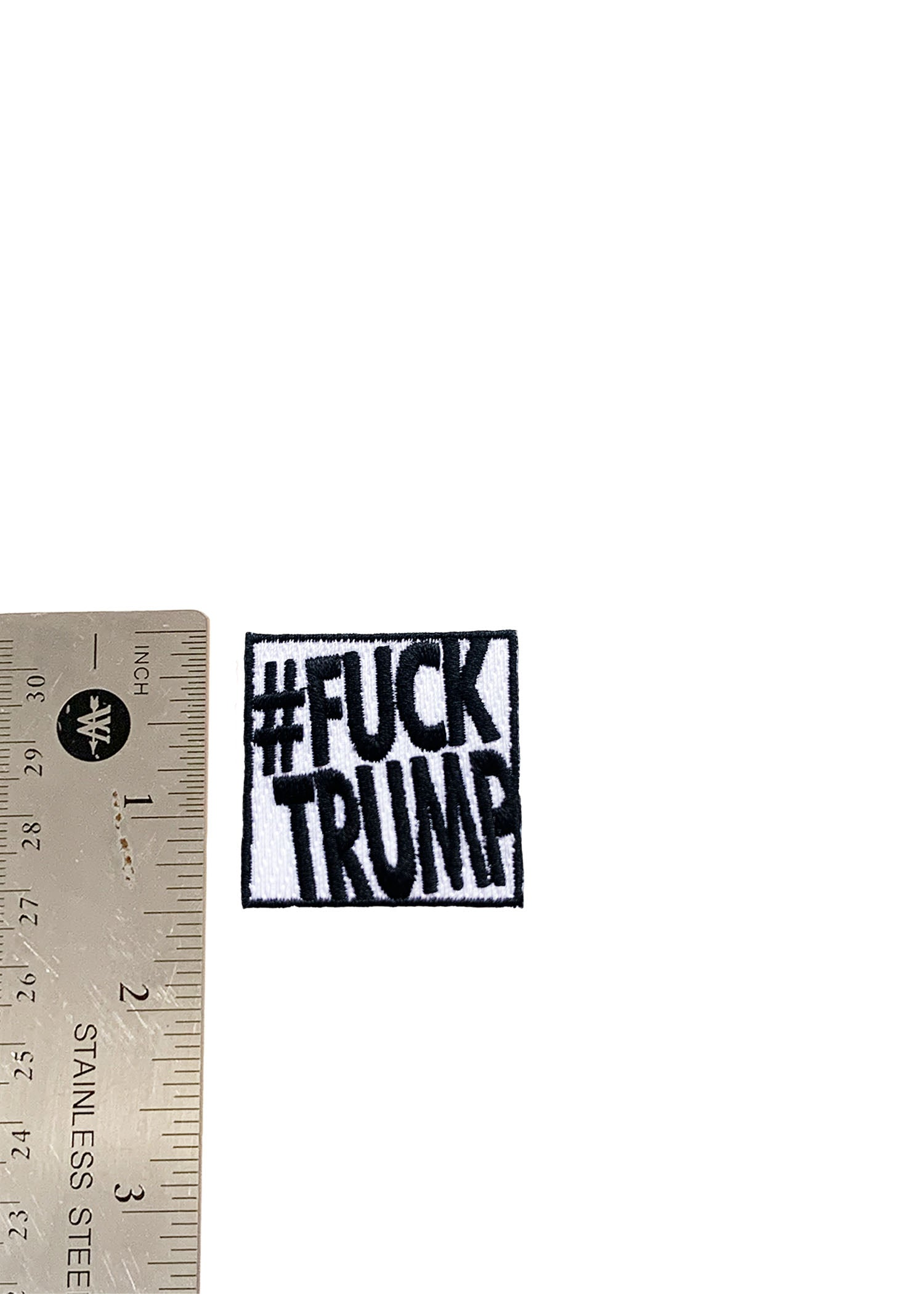 Oversized Fuck Trump Iron On Patch
