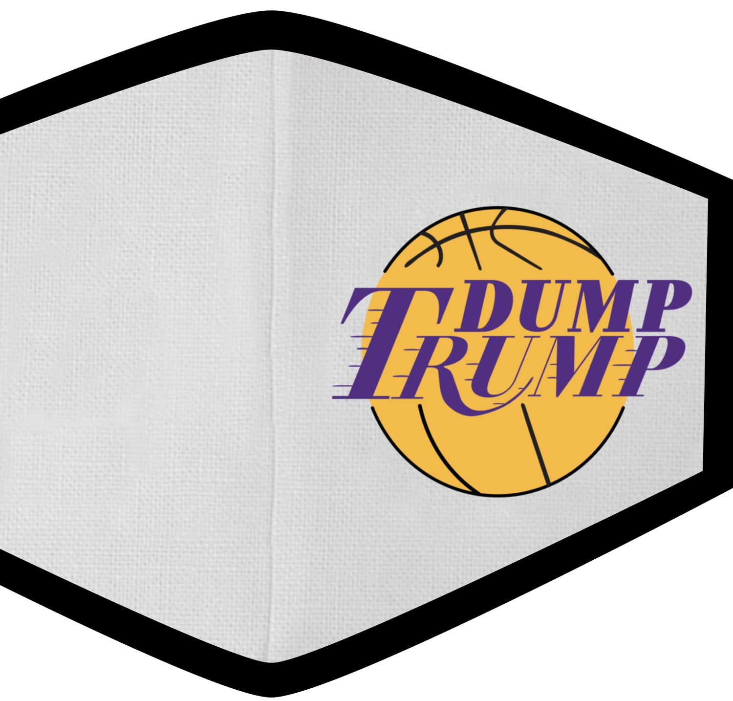 Dump Trump LA Hoops Face Mask