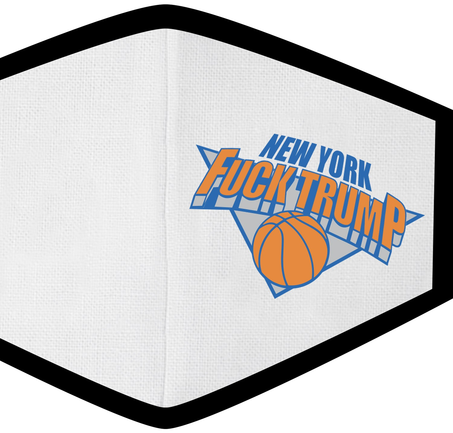 Fuck Trump NY Hoops Face Mask