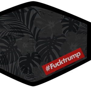 F**k Trump Bar Tropical Print Face Mask