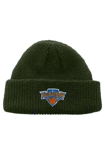Fuck Trump NY Hoops Patch Rollup Fisherman Knit Beanie