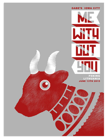 """Red Cow"" Poster (Iowa City)"