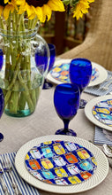 Load image into Gallery viewer, Blue Mason Jar Salad + Dinner Plate Set