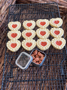Feb. 2021 Shortbread Heart Cookies