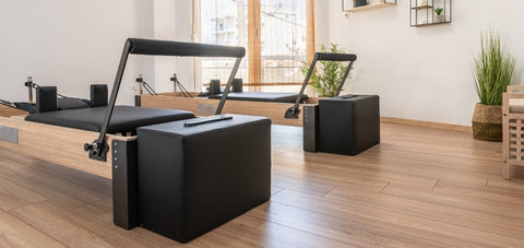 The sitting box of a Pilates Reformer