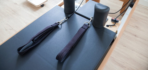 Pilates reformer straps with 2 loops option
