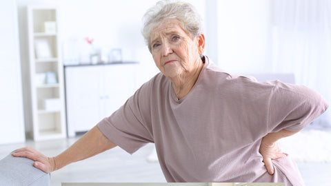 lady exhausted from low back discomfort