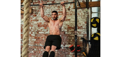 good pull up demonstration with elbow pointing down