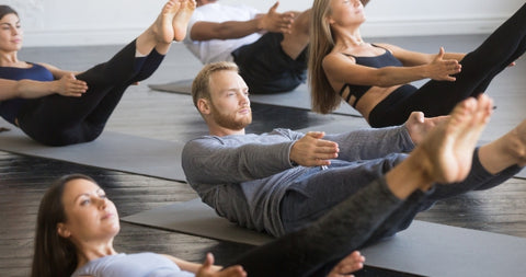 Pilates Hundreds done on the mat in a Strength pilates class