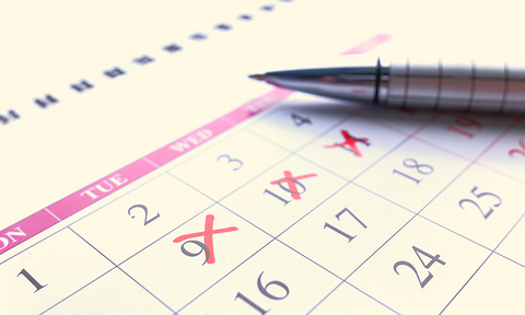 Training calendar. Marking your training days