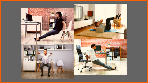 exercising in office, at home or anywhere, full flexibility, freedom and no cost