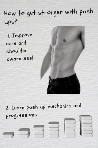 how to get stronger in push up exercise in 2 parts