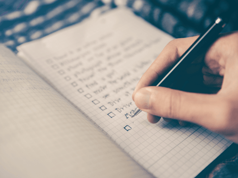 exercise log book to write down your goals and log in your session