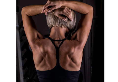 Balance upper body musculature and well-developed back resulting from pullup training
