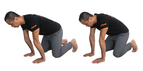 wrist extension stretch rock with fingers pointing forward