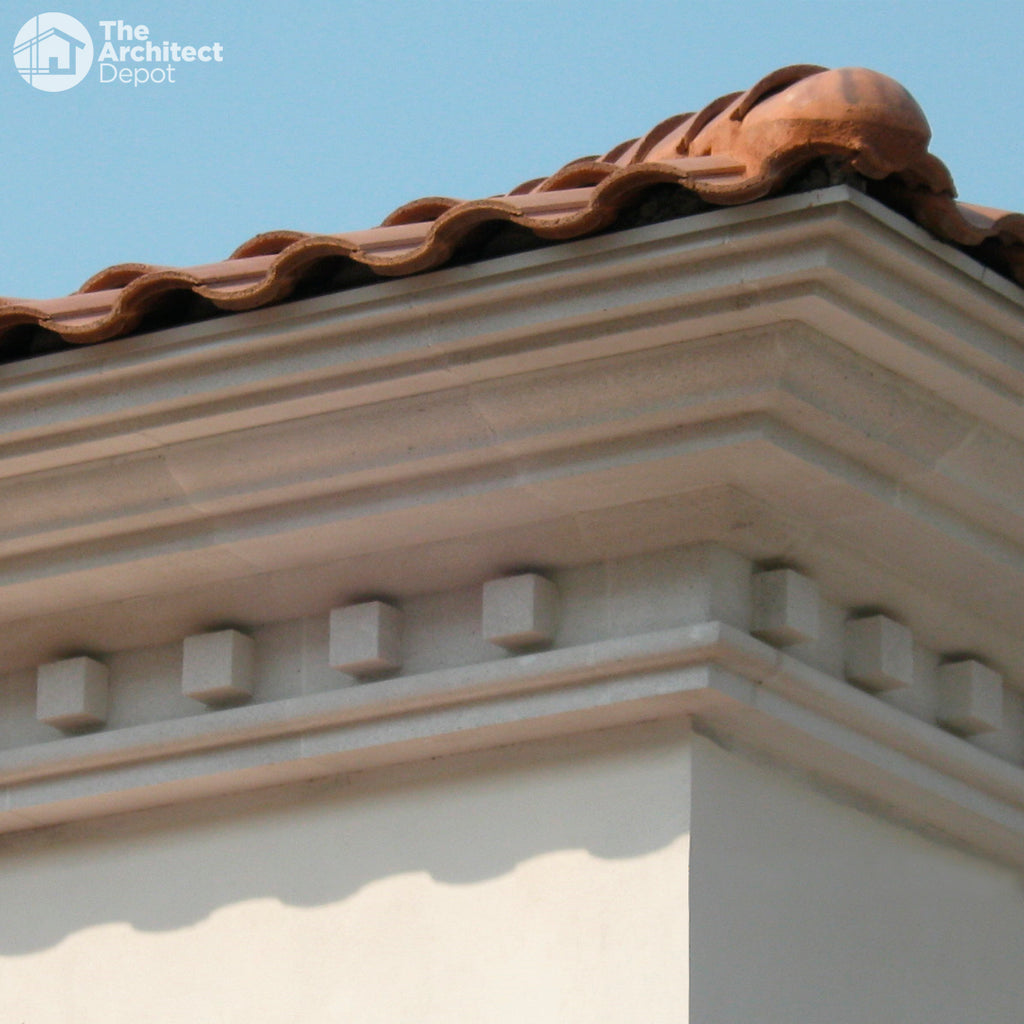 Lightweight Concrete Cornices Mouldings For Exterior Decoration