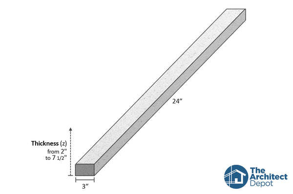 decorative concrete flat band moulding 24 x 3 use the decorative flat band moulding as an exterior moulding and give volume to the architecture of your building concrete flat bands can be use as a exterior window sill or exterior window trim as a simple crown molding decoration
