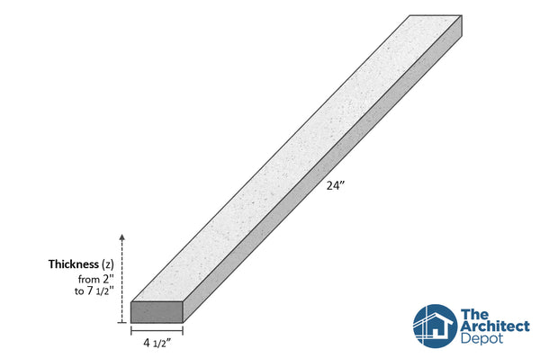 decorative concrete flat band moulding 24 x 4.5 use the decorative flat band moulding as an exterior moulding and give volume to the architecture of your building concrete flat bands can be use as a exterior window sill or exterior window trim as a simple crown molding decoration