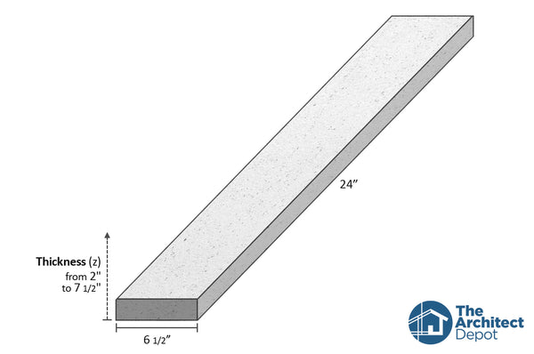 decorative concrete flat band moulding 24 x 6.5 use the decorative flat band moulding as an exterior moulding and give volume to the architecture of your building concrete flat bands can be use as a exterior window sill or exterior window trim as a simple crown molding decoration