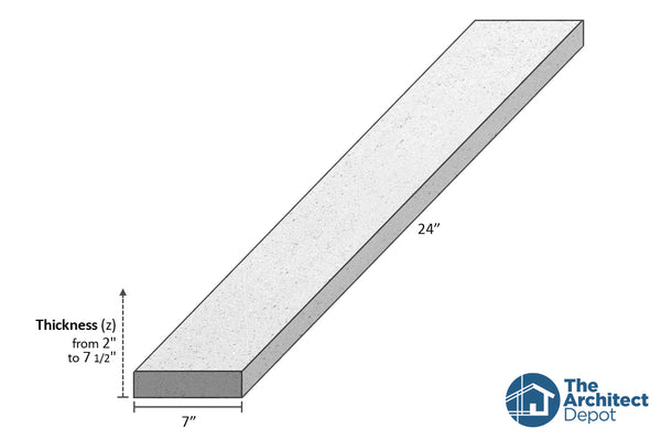decorative concrete flat band moulding 24 x 7 use the decorative flat band moulding as an exterior moulding and give volume to the architecture of your building concrete flat bands can be use as a exterior window sill or exterior window trim as a simple crown molding decoration