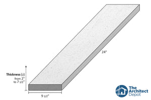 decorative concrete flat band moulding 24 x 9.5 use the decorative flat band moulding as an exterior moulding and give volume to the architecture of your building concrete flat bands can be use as a exterior window sill or exterior window trim as a simple crown molding decoration