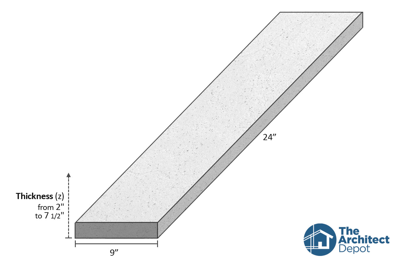 decorative concrete flat band moulding 24 x 9 use the decorative flat band moulding as an exterior moulding and give volume to the architecture of your building concrete flat bands can be use as a exterior window sill or exterior window trim as a simple crown molding decoration