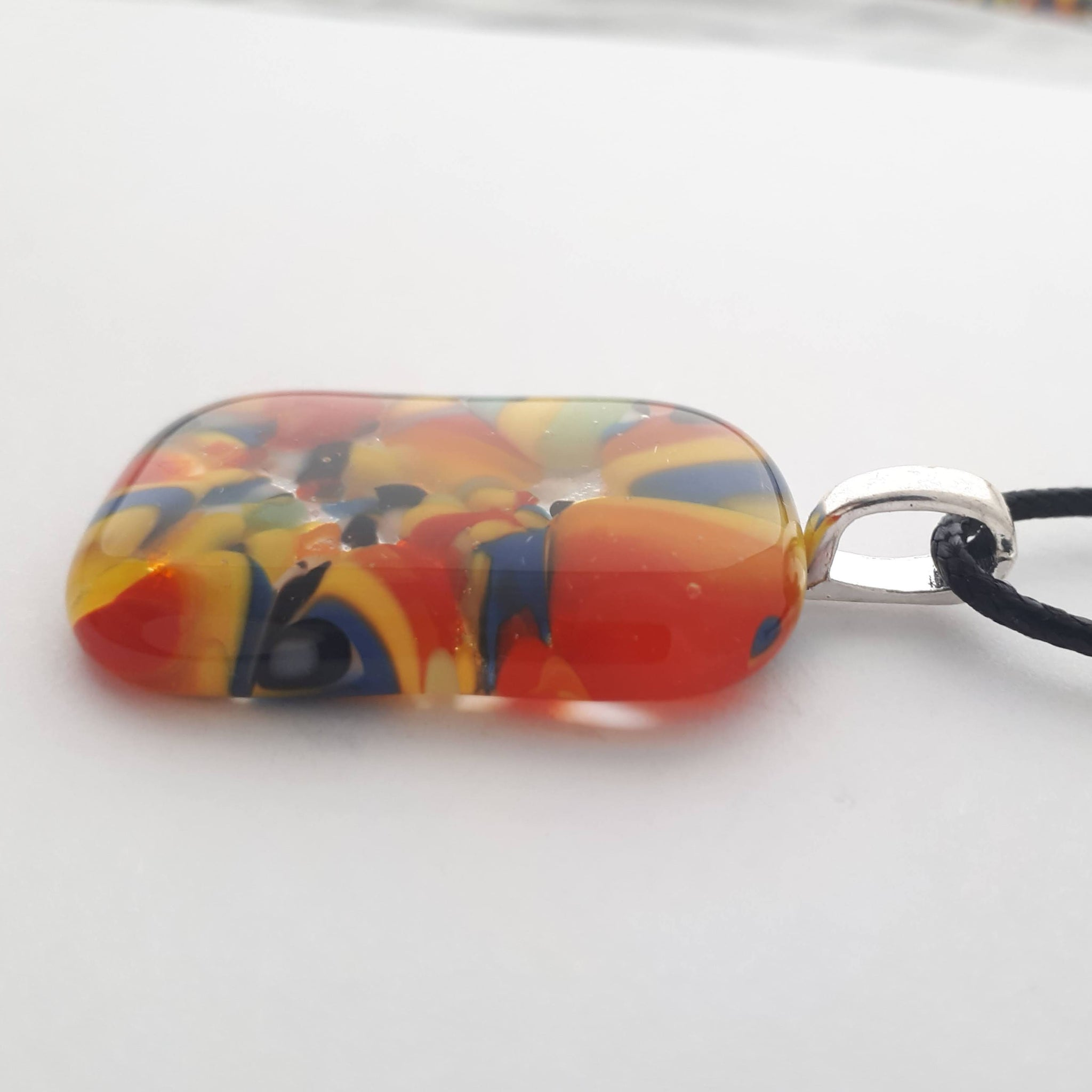 Colourful Rectangle Glass Pendant | Carnival Collection