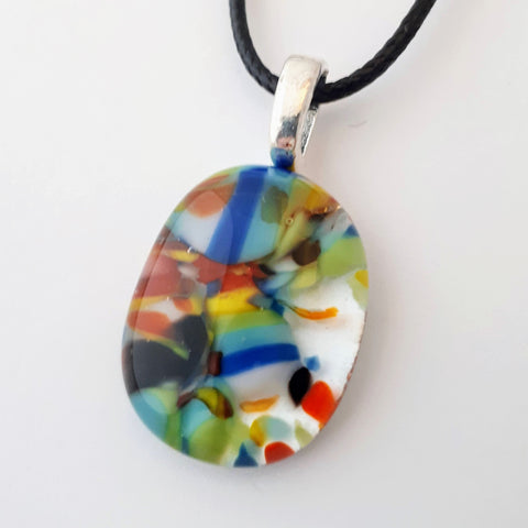 Oval Glass Pendant | Rain Forest Collection