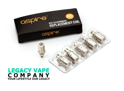 Aspire BVC Coils for Nautilus 2 & Zelos Kit & Nautilus Mini & Nautilus & K3 & Nautilus 2S (5pcs/pack)