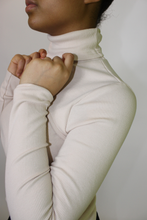 Load image into Gallery viewer, Cream Cut-out Turtleneck