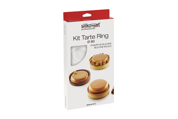 kit tarte ring Round silikomart 8 - Pianeta Dessert Shop