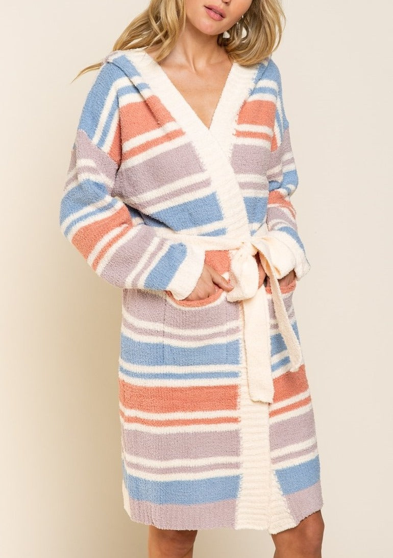 Stay At Home Hooded Sweater Robe